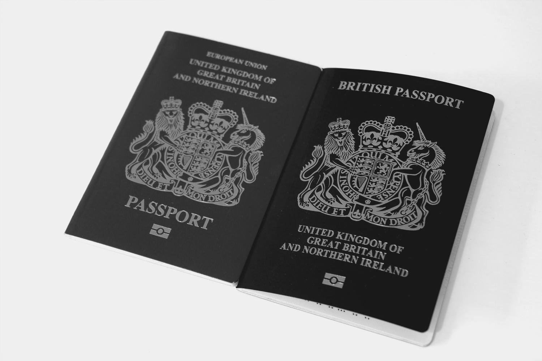 Two British passports.